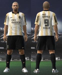 Uniforme do Centenário do Corinthians para PES 2010
