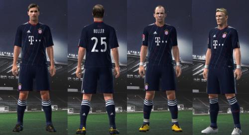 Terceiro Uniforme do Bayern de Munique 2010/11, Uniforme que o Bayern de Munique irá utilizar na Liga dos Campeões 2010/11 para PES 2010